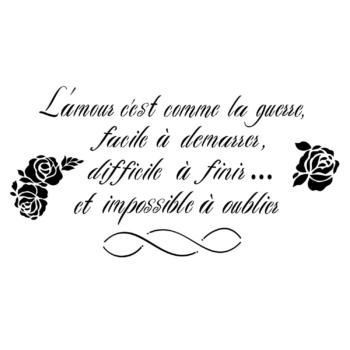 Šablóna na maľovanie Script d'Amour Francais 32,38x62,87cm